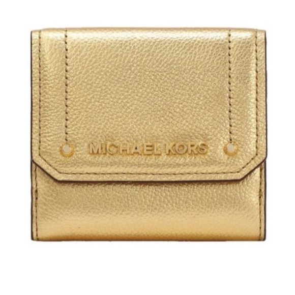 1345f9d98440 MICHAEL Michael Kors Bags   New Michael Kors Trifold Gold Tone ...